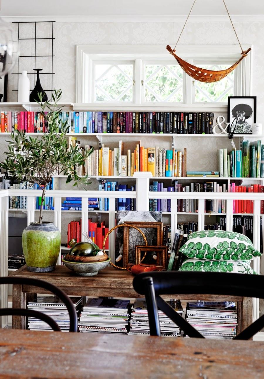 wystrój wnętrz, wnętrza, dom, mieszkanie, aranżacja, home decor, białe wnętrza, vintage, styl skandynawski, jadalnia, biblioteczka, książki