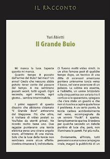"""Nel 2010 Yuri Abietti ha vinto il nostro concorso Nel buio. Il racconto è stato pubblicato su Altrisogni n.4 e nell'antologia """"Nel buio""""."""