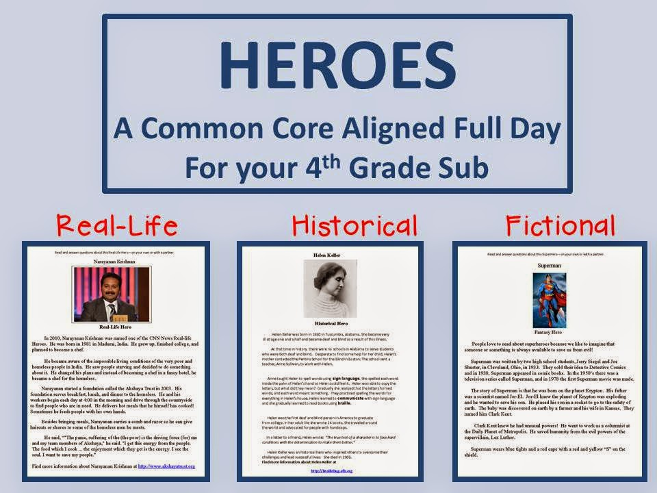 http://www.teacherspayteachers.com/Product/Heroes-A-Common-Core-Aligned-Full-Day-For-Your-Sub-146511