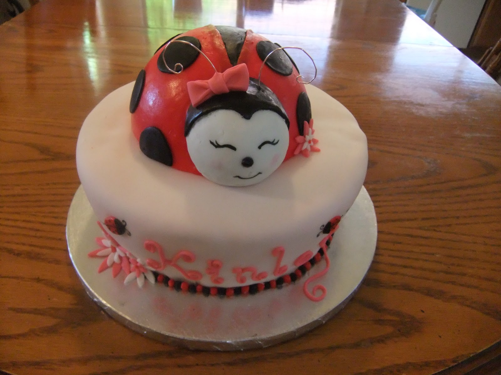 Delightful For The Name I Used My Clay Extruder And I Put Ladybugs And A Few Flowers  Around The Cake. The Mother Of Honor Loved The Cake So Iu0027m Glad How The Cake  ...