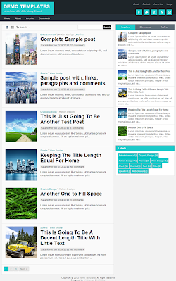 TheTuts Turquoise Blogger Template