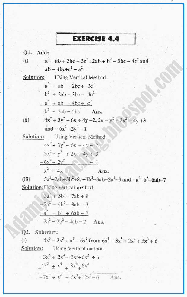 exercise-4-4-algebraic-expressions-mathematics-notes-for-class-10th