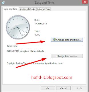 Ubah jam dan tanggal