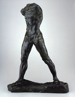 шагающий, скульптура, роден, статуя
