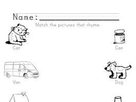 Free Printable Worksheets On Rhyming Words For Grade 2