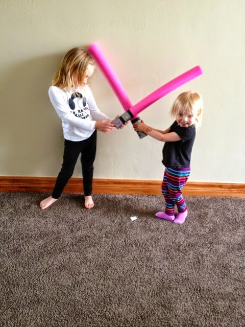http://sisterswhat.blogspot.com/2014/05/pool-noodle-light-sabers.html