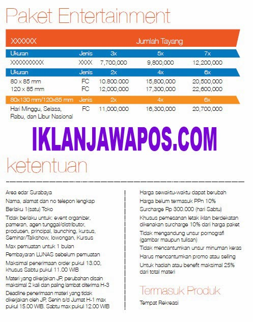 Jawa Pos Iklan Paket Entertainment 2014