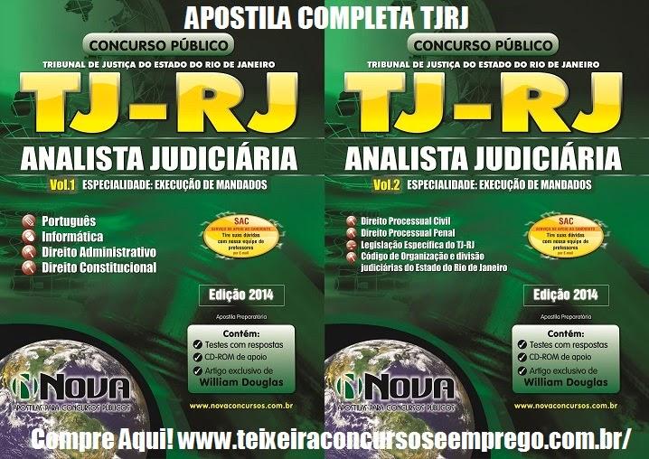 Apostila Concurso do TJ – RJ 2014 - Especialidade Execução de Mandados - ESPECIFICA.