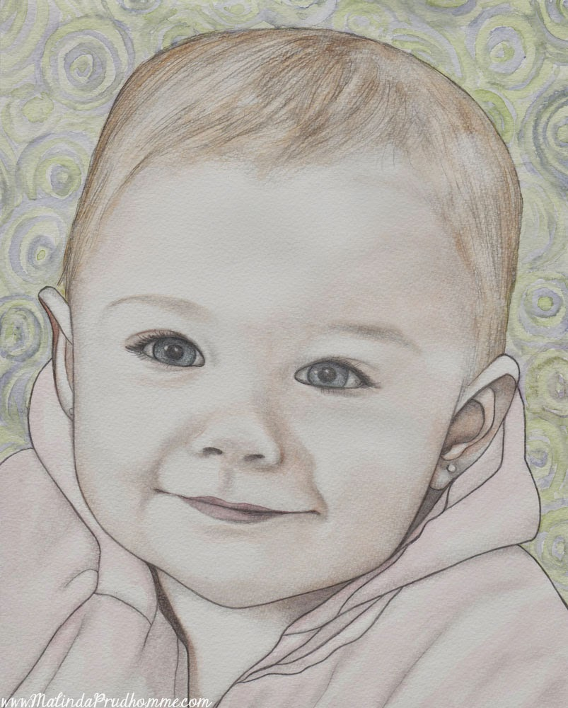 baby portrait, portrait artist, portrait painting, mixed media art, mixed media artist, affordable art, affordable portrait, baby art, toronto artist