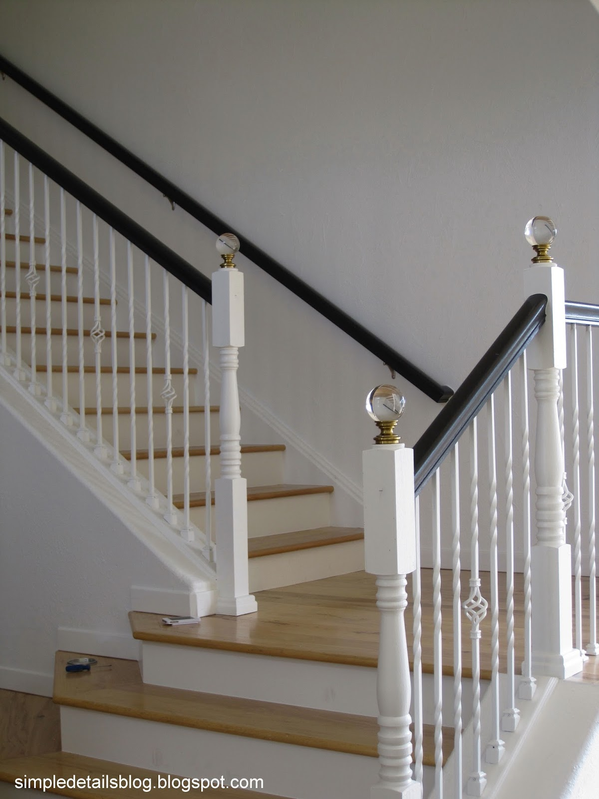 Simple Details: Diy Staircase Finials.