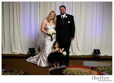 Adorable flower girl in black l Theilen Photo l Atlantis Reno l Take the Cake Event Planning