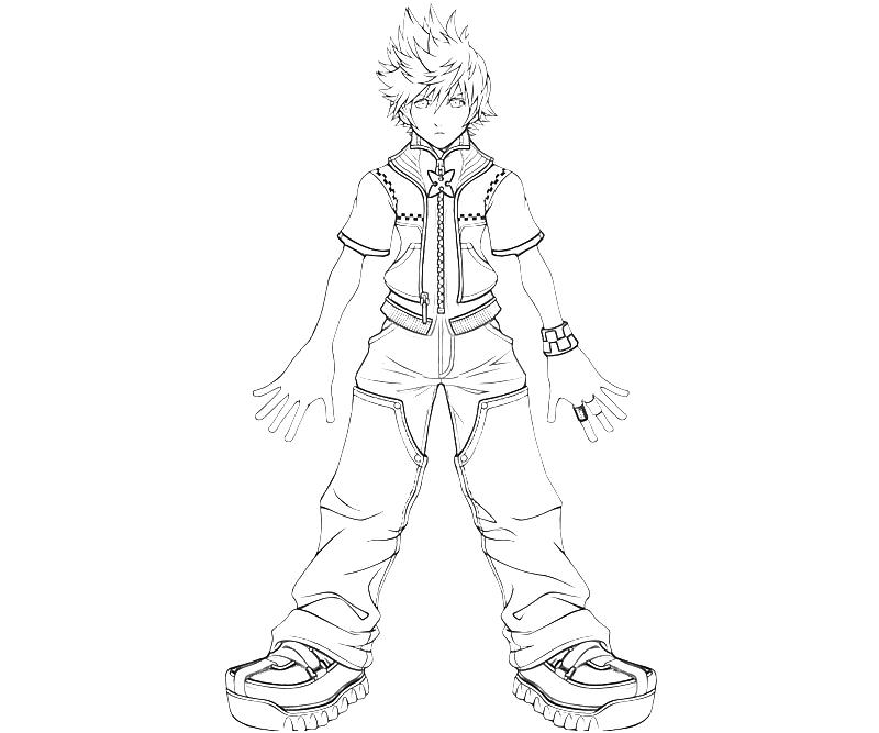 10 roxas kingdom hearts characters - Coloring Pages Hearts 2