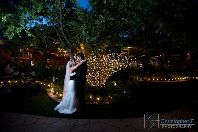 Bride and Groom Night Portrait Photography