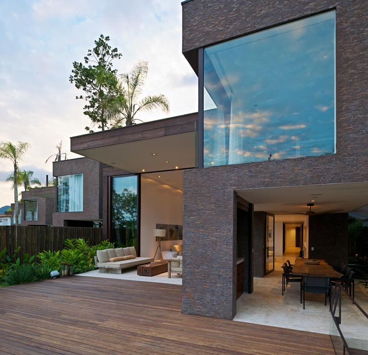 Facade of Modern beach house in Brazil