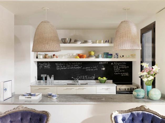Mini apartamento chic small chic apartment - Pizarras de cocina ...
