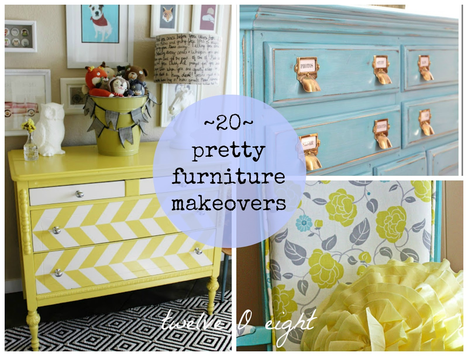 20 pretty furniture makeovers