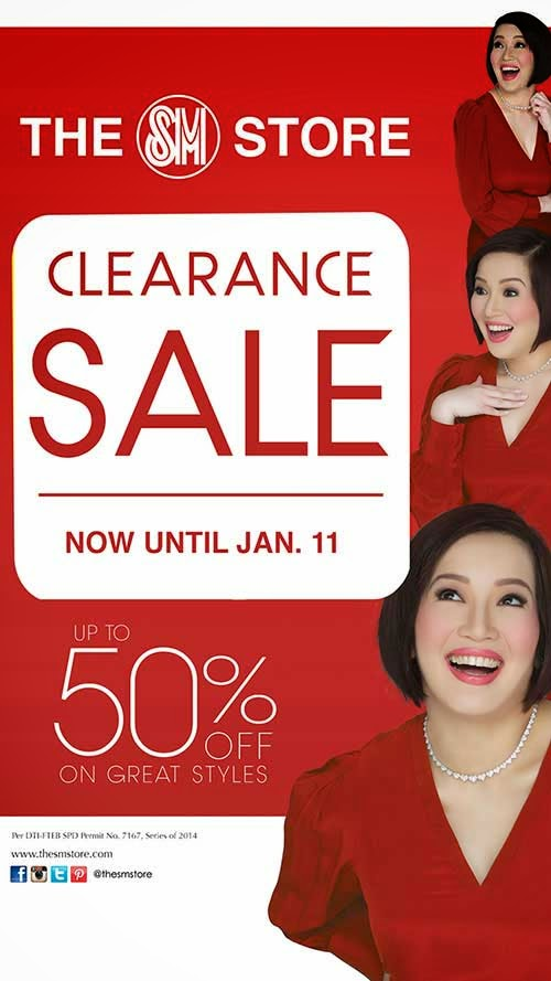 THE SM STORE CLEARANCE SALE UNTIL JANUARY 11, 2015