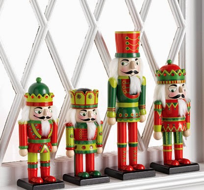 RAZ Wooden Nutcracker Figurines at Trendy Tree