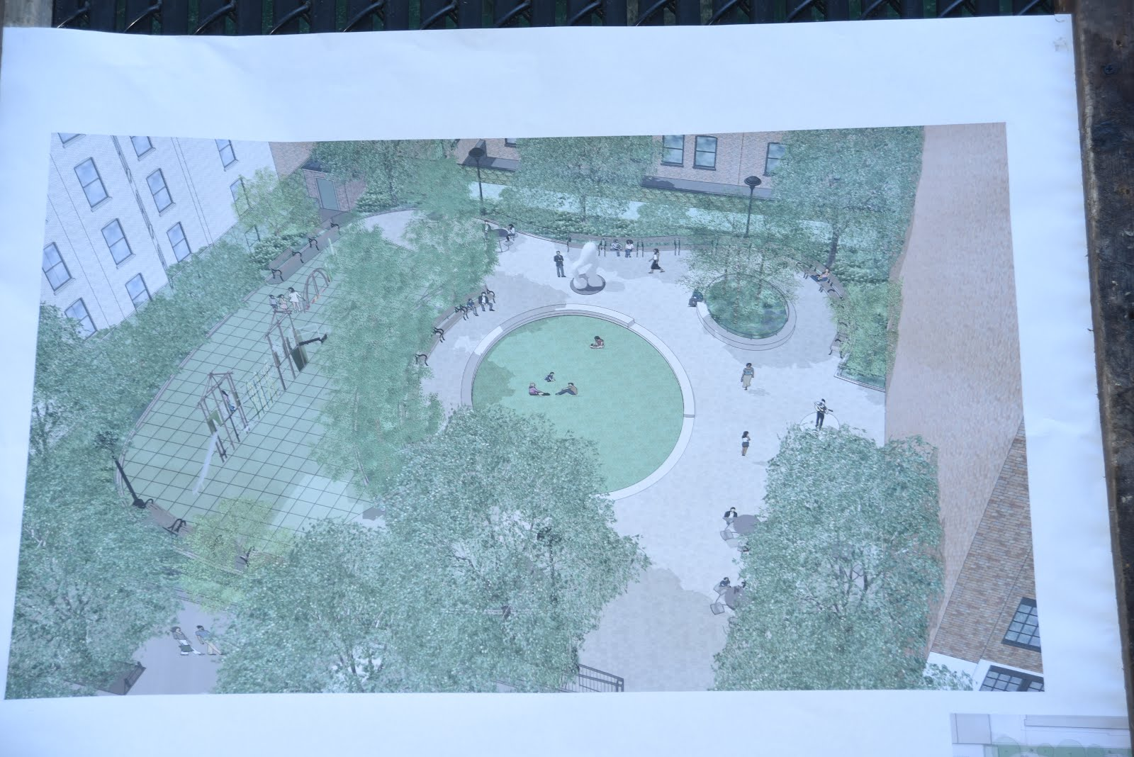 play equipment for several age groups plantings trees seating and space for rotating public art displays chelsea green is projected to open by 2019