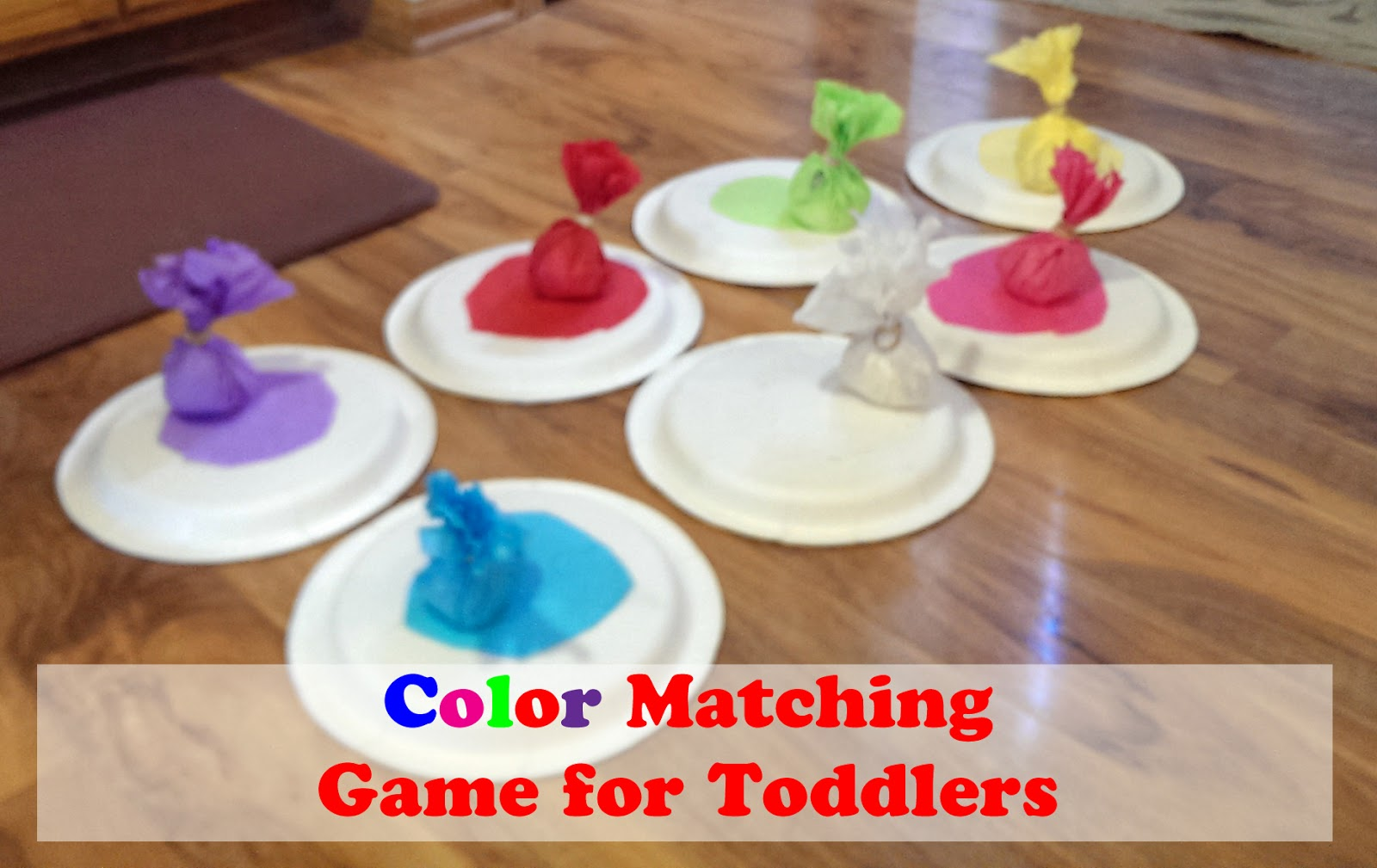 tissue paper color matching game - Color Games For Toddlers
