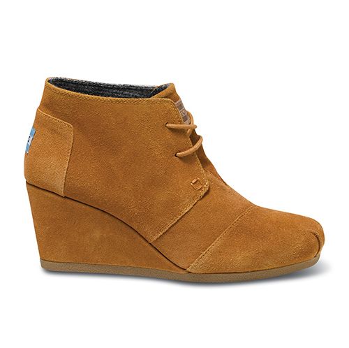 Chestnut Suede Desert Wedges