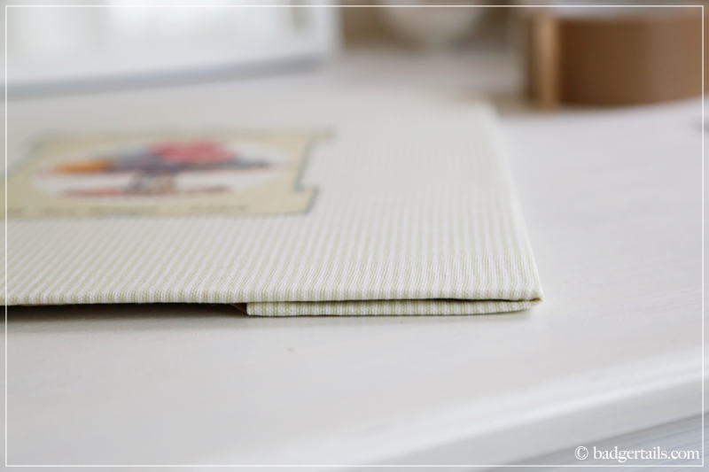How to Frame a Tea Towel - Neat and tidy edges
