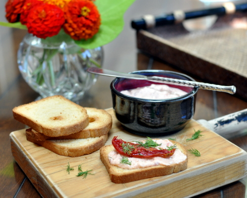 Roasted Roma Tomato Dip ♥ KitchenParade.com.