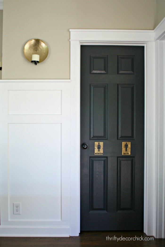 Painting Interior Doors Black : The curse of back door from thrifty decor chick