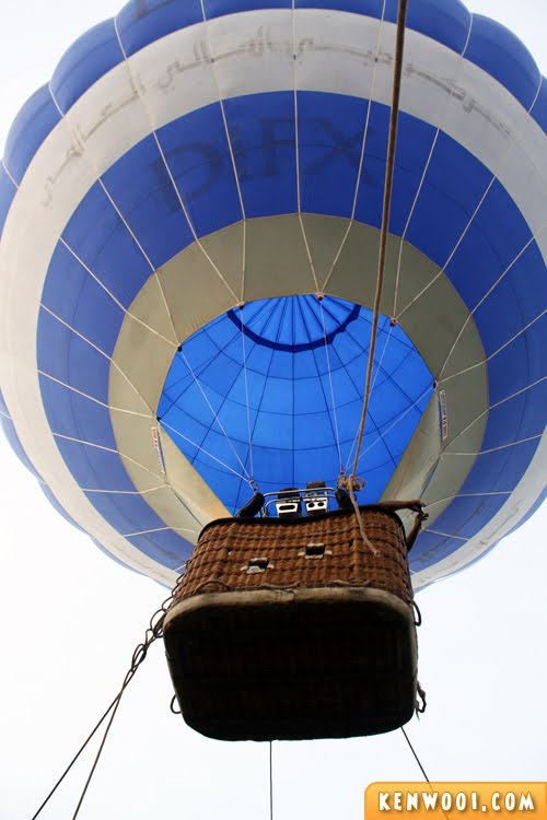 putrajaya hot air balloon lift up