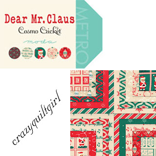 Moda DEAR MR. CLAUS Christmas Quilt Fabric by Cosmo Cricket