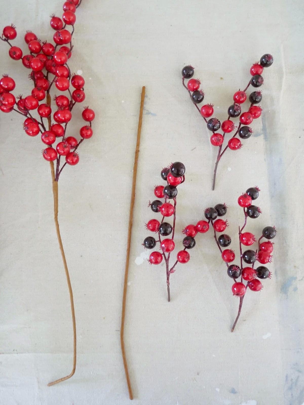 Cranberry holiday decor