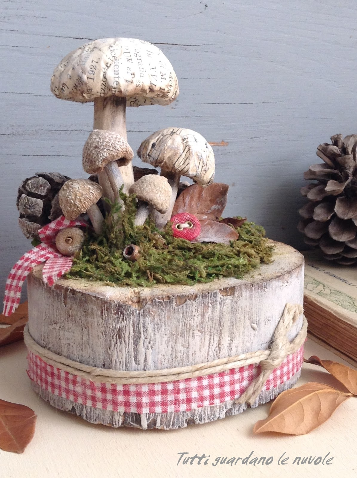 Tutti guardano le nuvole autumn inspirations for Dischi di legno