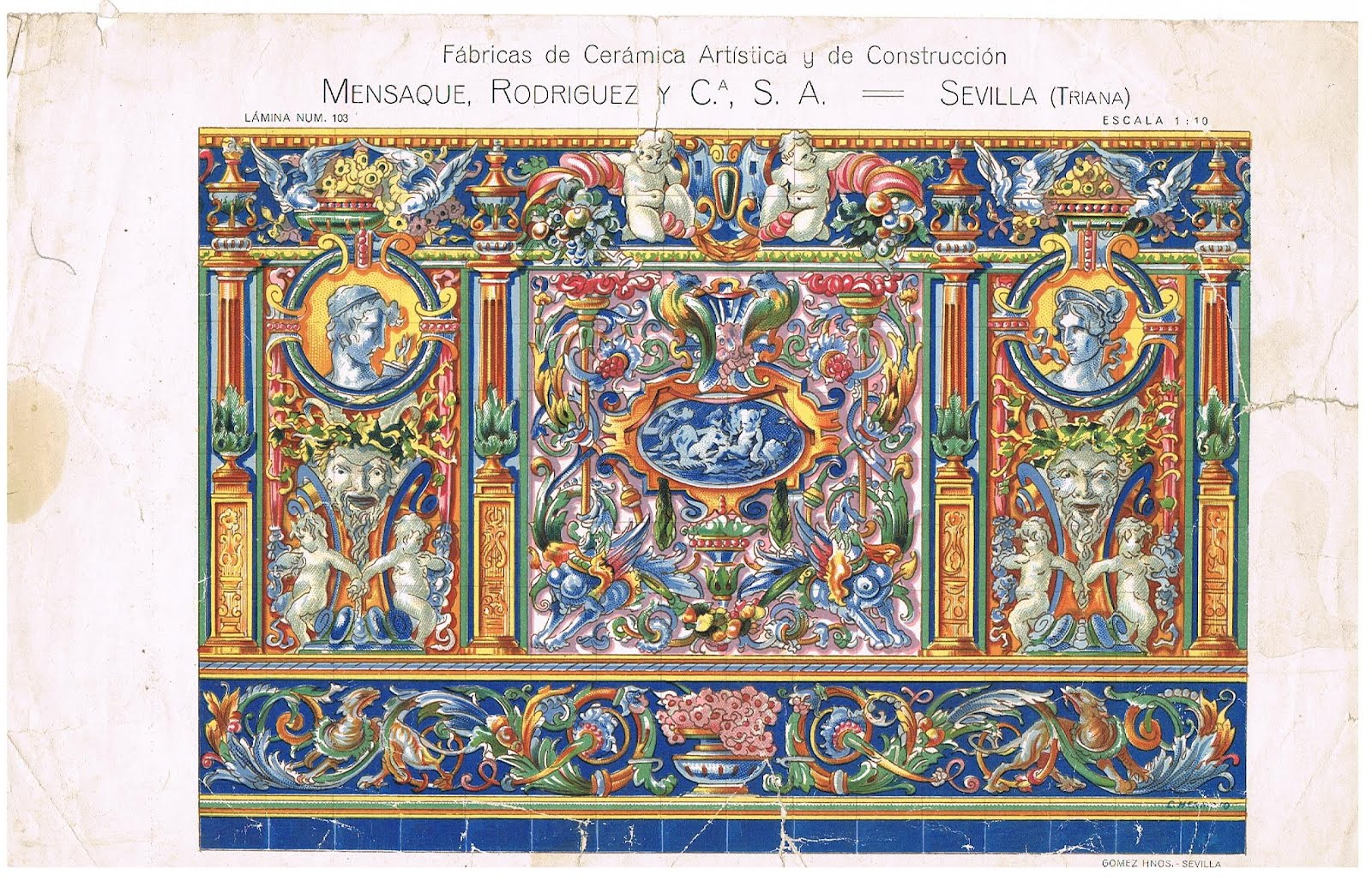 Alfonso orce barroco seg n sevilla en azulejos - Catalogo azulejos ...