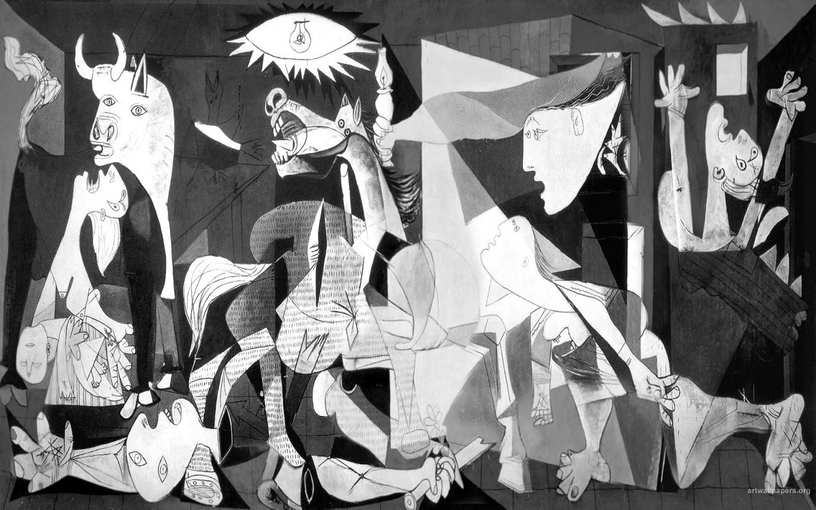 The understanding of the meaning and symbols of the painting Guernica by Pablo Picasso Essay