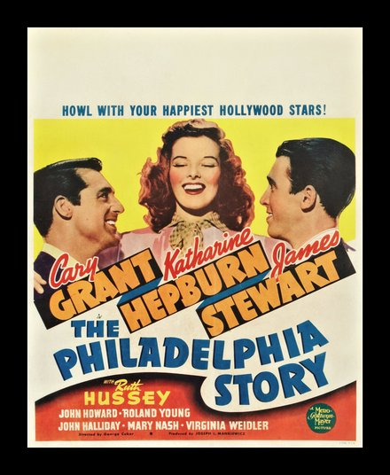 free printable, printable, classic posters, free download, graphic design, movies, retro prints, theater, vintage, vintage posters, The Philadelphia Story, Cary Grant, Katharine Hepburn, James Stewart - Vintage Classic Movie Poster