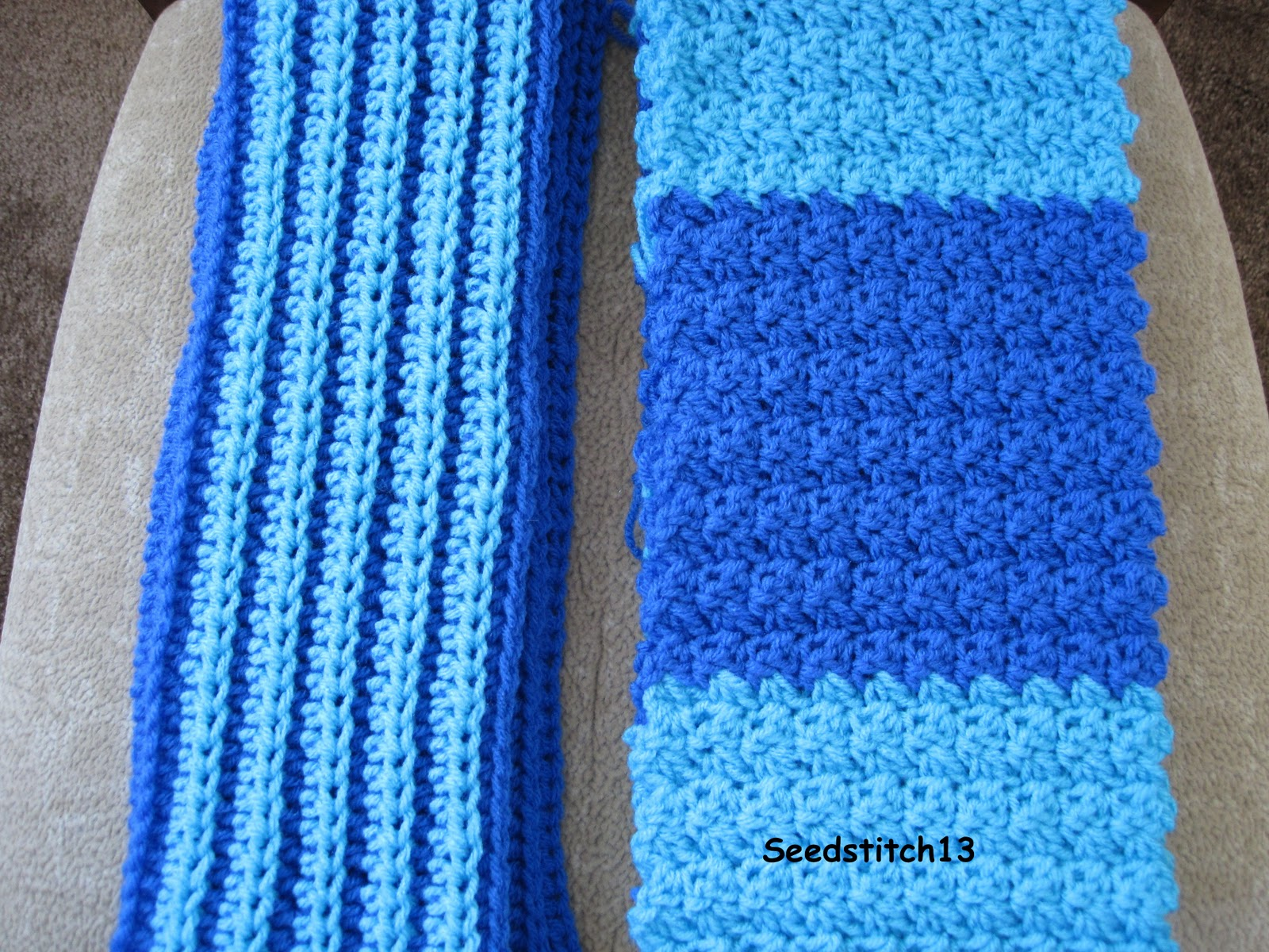 Knitting Stitches Seed Stitch : Seedstitch13: Seed Stitch Scarf