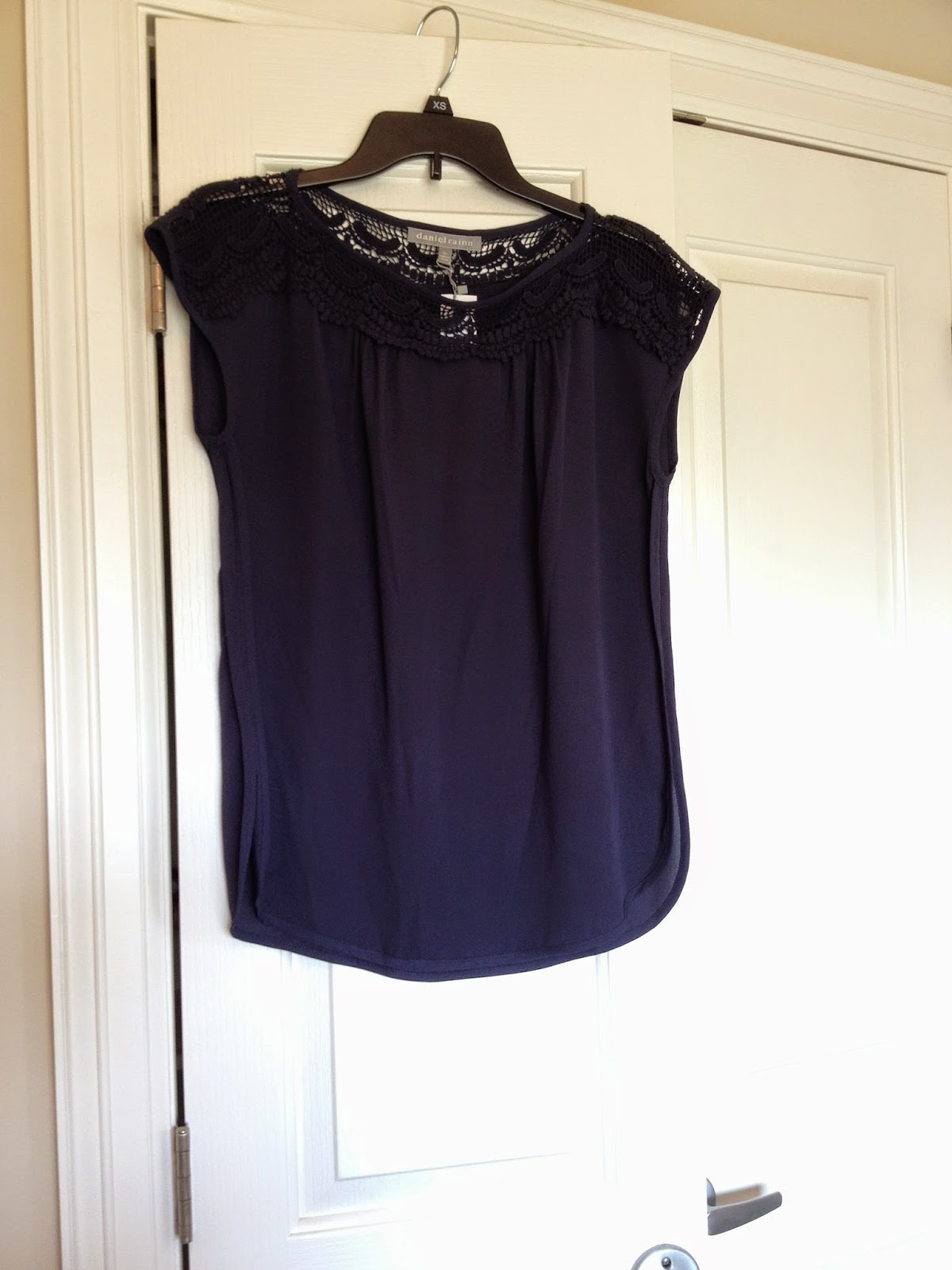 Daniel Rainn Adley Crochet Trim Blouse StitchFix