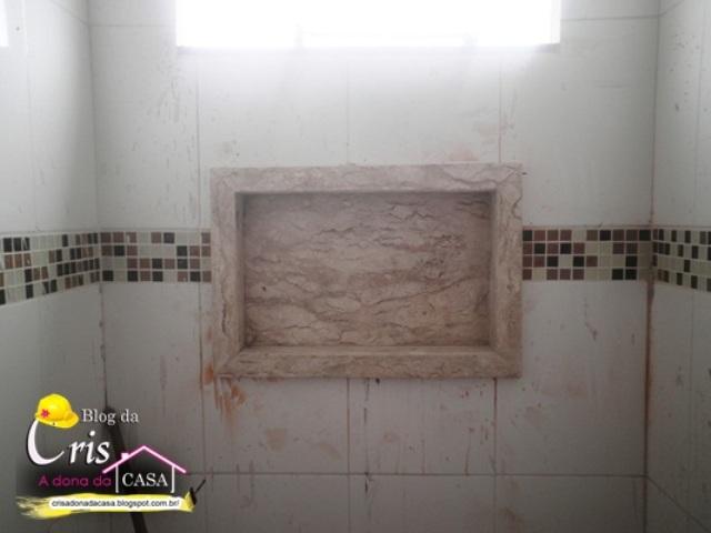 Cris  A Dona da Casa! Banheiros e Pia da Cozinha +ou Finalizados -> Nicho Banheiro Bege Bahia