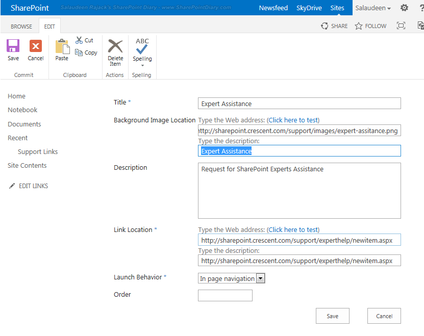 edit promoted links in sharepoint 2013