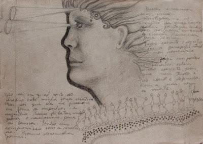 Desenho e reflexões sobre o ato de criar, a busca de formas para se expressar - Elma Carneiro