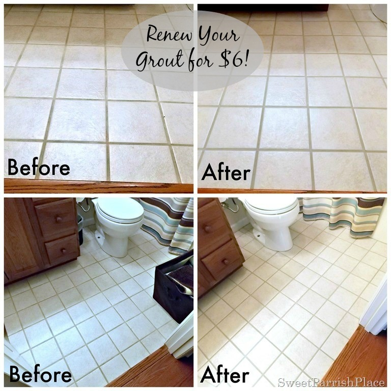 DIY- Renew your grout for $6
