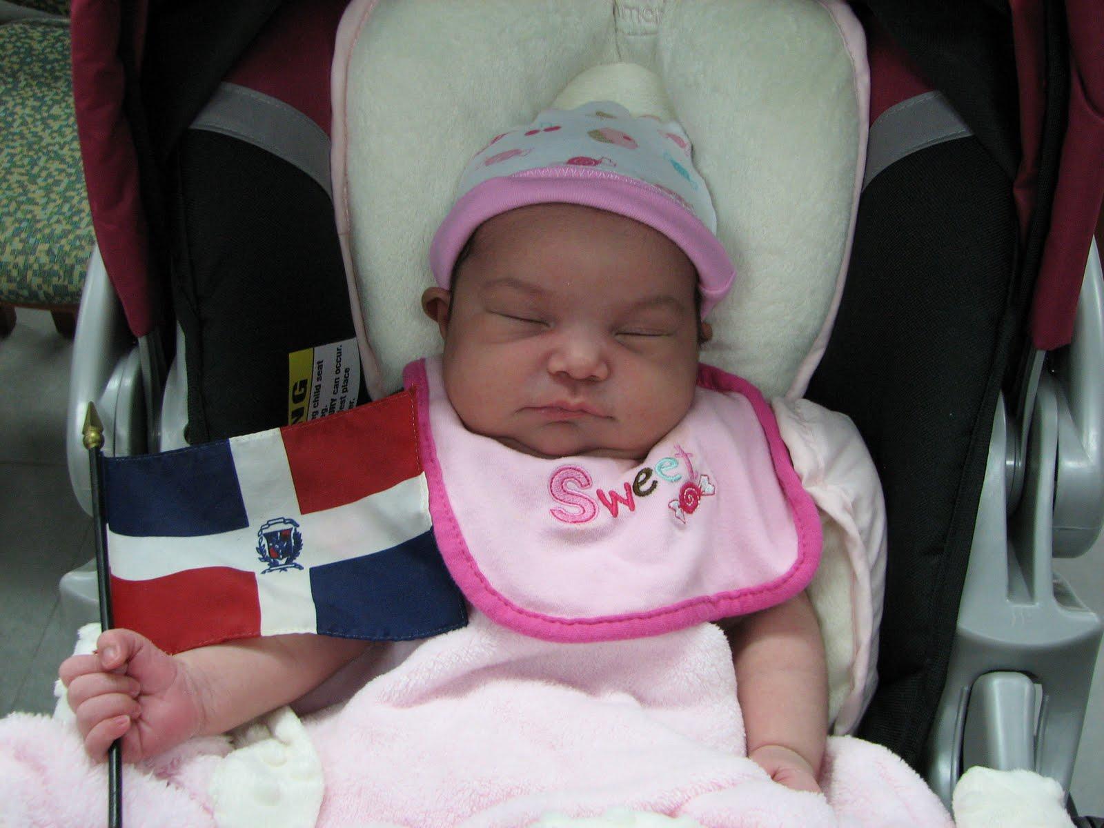 Resultado de imagen para bandera dominicana con bebe