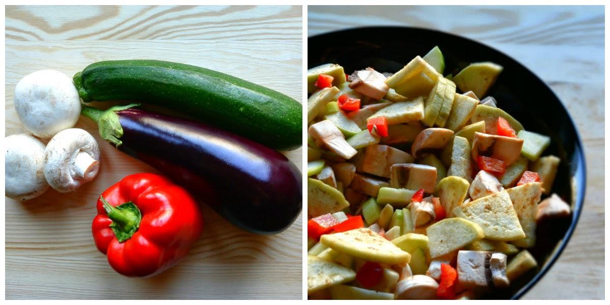 Składniki na warzywa z patelni
