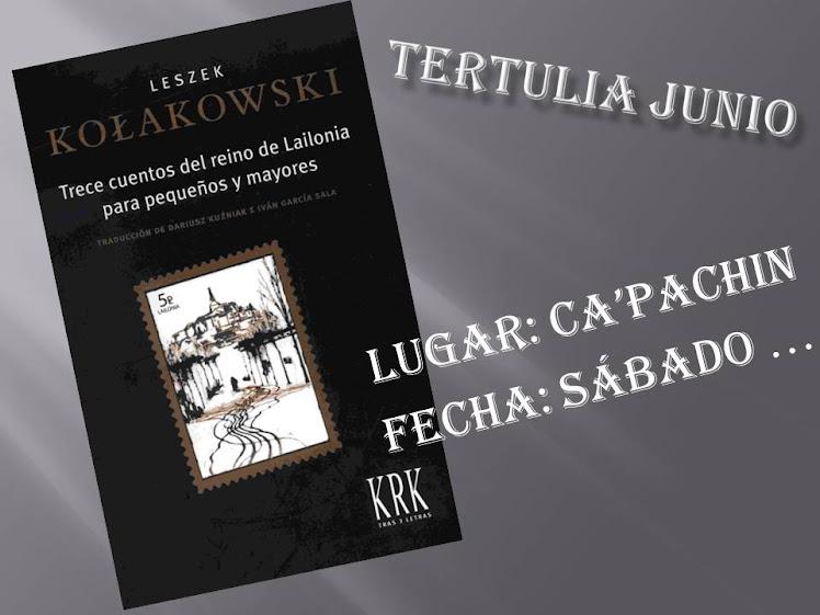 TERTULIA JUNIO