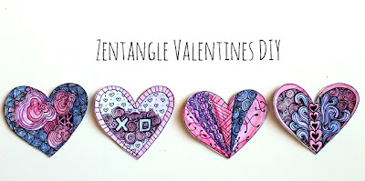 DIY Zentangles Valentines Projects - Create Zentangle Hearts with Your Significant Other and Decorate Your Home for Valentine's Day