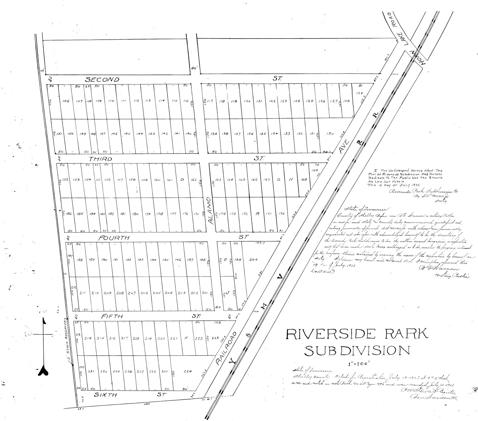 the subdivision plat for the neighborhood shows that first was really just one of many numbered streets in the area and this plat pre dates the ordinance