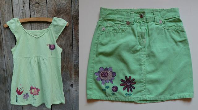 letní tričko, sukně