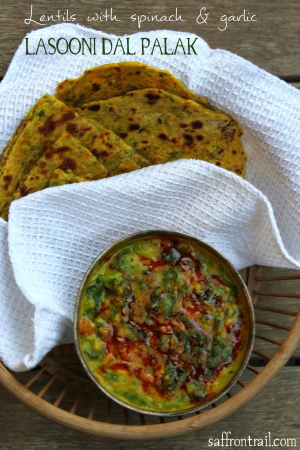 lasooni dal palak - Indian style dal with spinach and garlic from ...