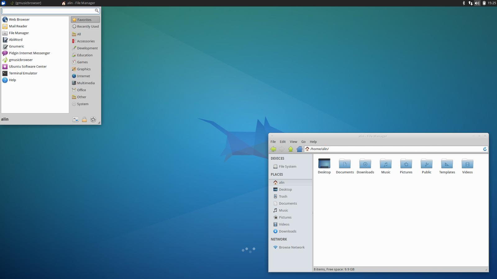 Xubuntu 14.04 LTS desktop