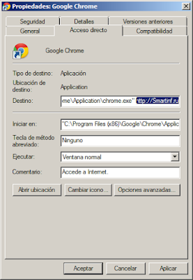 Malicious properties shortcut Websearch.simplesearches.info